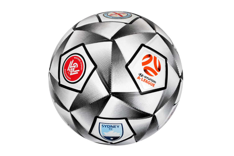 Summit A-League All Teams Soccer/Football Ball Outdoor Sport/Game Size 5 WHT/GRY