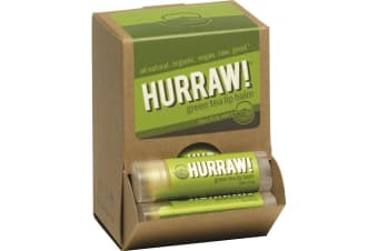 Hurraw! Lip Balm Green Tea 4.3g x 24 Display