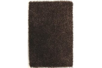 Metallic Noodle Shag Rug Brown  Beige