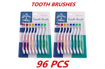 96 x Adult Kids Children's Toothbrush Tooth Brush Oral Dental Care Hygiene Teeth Care