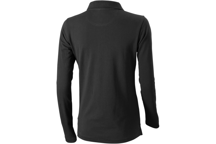 Elevate Oakville Long Sleeve Ladies Polo Shirt (Anthracite) (XS)