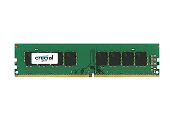 Crucial 8GB DDR4 2400 MT/s (PC4-19200) CL17 SR x8 Unbuffered DIMM 288pin Single Ranked