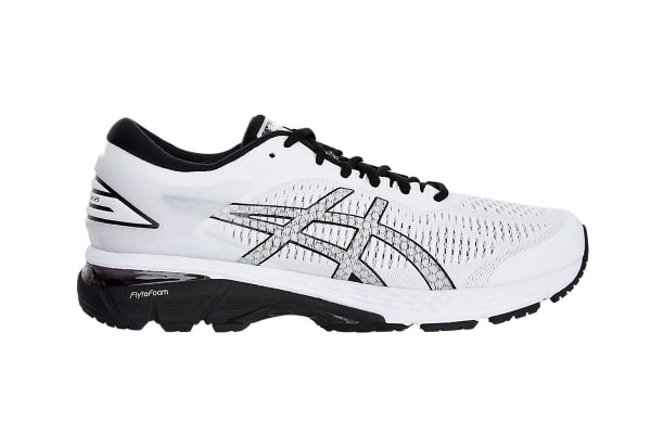 ASICS Men's Gel-Kayano 25 Running Shoe (White/Black, Size 12.5)