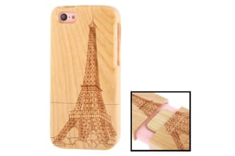 For iPhone 5C Case  Eiffel Tower Print Durable Cherry Wood Shielding Cover
