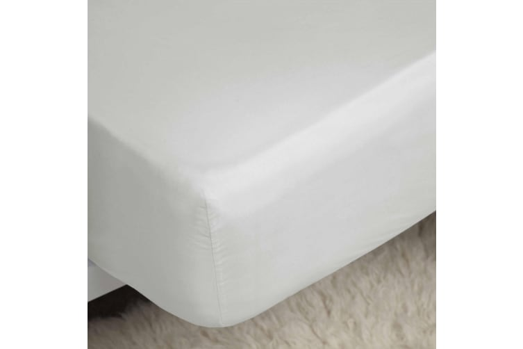 Belledorm Premium Blend 500 Thread Count Fitted Sheet (Ivory) (Double)