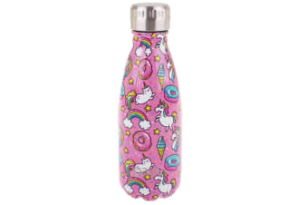 Oasis 350ml Double Wall Insulated Water Drink Bottle Vacuum Flask Unicorn