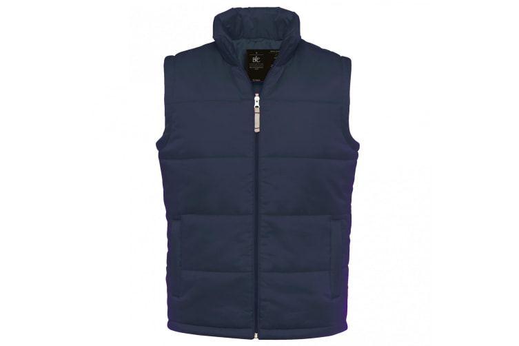 B&C Mens Full Zip Waterproof Bodywarmer/Gilet (Navy) (XL)