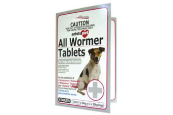 All Wormer Tablets for Dogs & Puppies 10kg - 6 Tabs (Aristopet)
