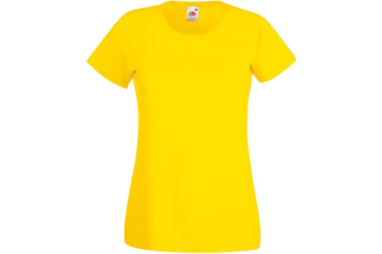 Womens/Ladies Value Fitted Short Sleeve Casual T-Shirt (Bright Orange) (XX Large)