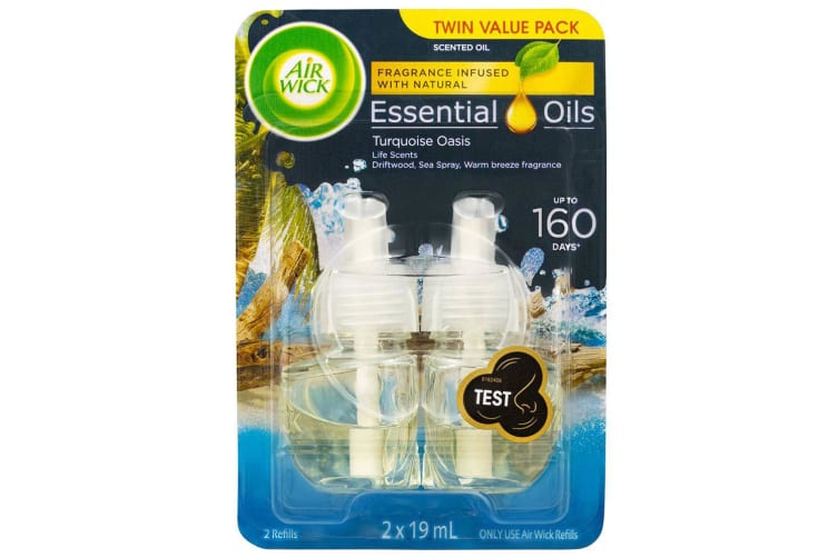 2pc Air Wick 19ml Essential Oils for Electric Diffuser Refill Turquoise Oasis