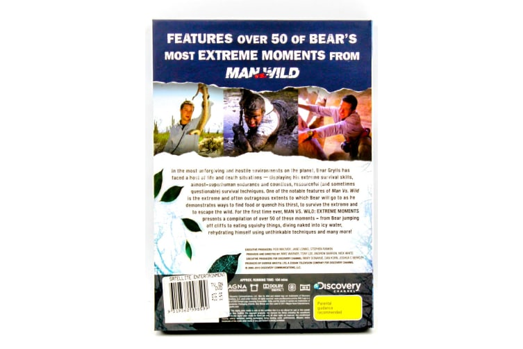 Man Vs Wild with Bear Grylls -Extreme Moments Collection PAL DVD NEW