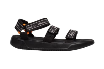 Ellesse Men's Denso Text AM Sandal (Black, Size 12 US)