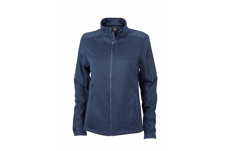 James and Nicholson Womens/Ladies Knitted Fleece Jacket (Navy/Navy) (M)