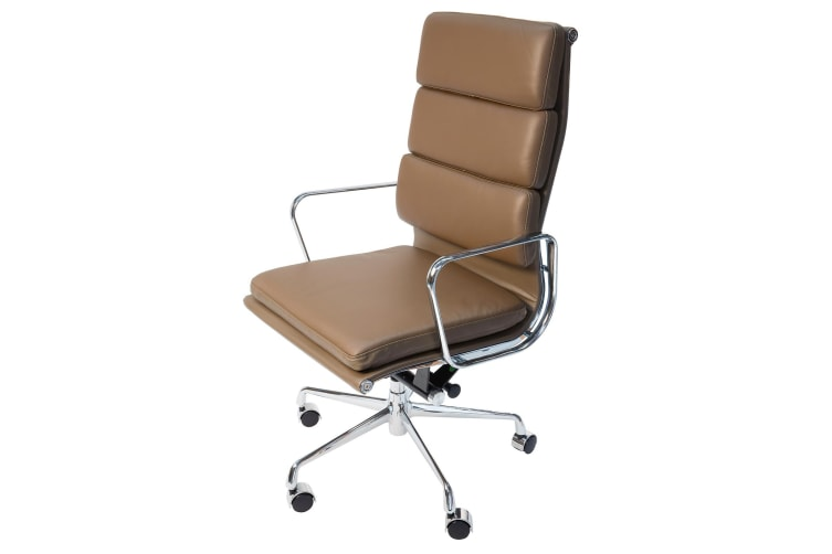 Replica Eames High Back Soft Pad Executive Desk / Office Chair | Brown