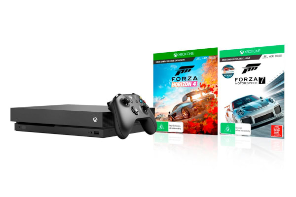 dick smith xb1 xbox one x console with forza horizon 4. Black Bedroom Furniture Sets. Home Design Ideas
