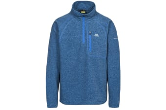 Trespass Mens Bilbao Half Zip Fleece Top (Midnight Blue)