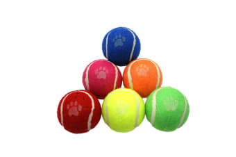Dog Life Tennis Balls (Pack Of 6) (Multicoloured) (One Size)