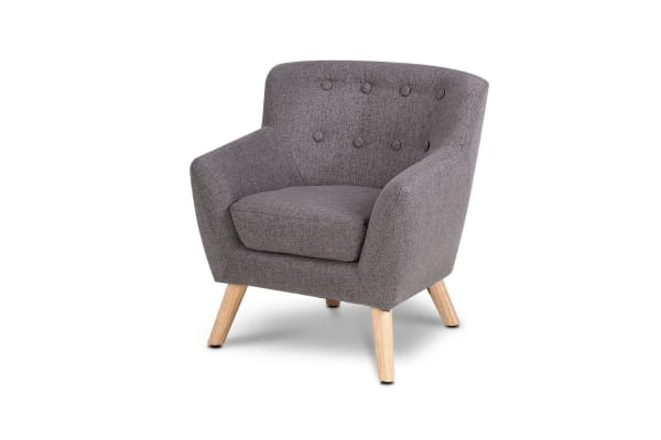 Kids Fabric Armchair (Grey)