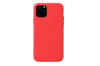 Select Mall Ultra Slim Protective Gel Shell Bumper Back Skin Mobile Phone Case Protective Cover TPU Cover for iPhone 11 Series-Red Iphone11 Pro Max 6.5 inch