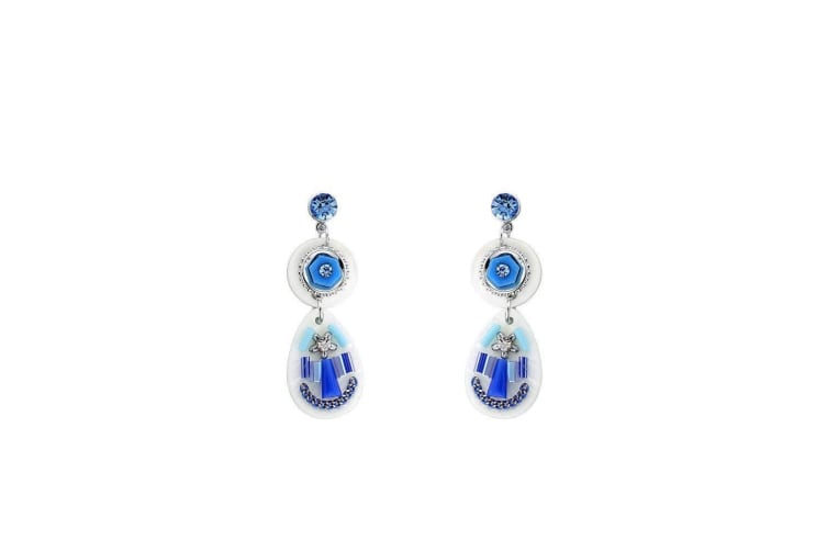 Intrigue Womens/Ladies Shell Hand Crafted Earrings (Blue) (One Size)