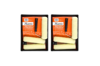 """6pc Harris Task Masters 9"""" Paint Roller/Tray Wall/Ceiling Home/Room Painting Set"""