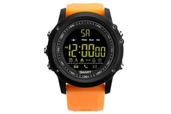 TODO Bluetooth V4.0 Smart Watch 1.1 Fstn Lcd Rechargeable Ip67 Remote Camera - Orange
