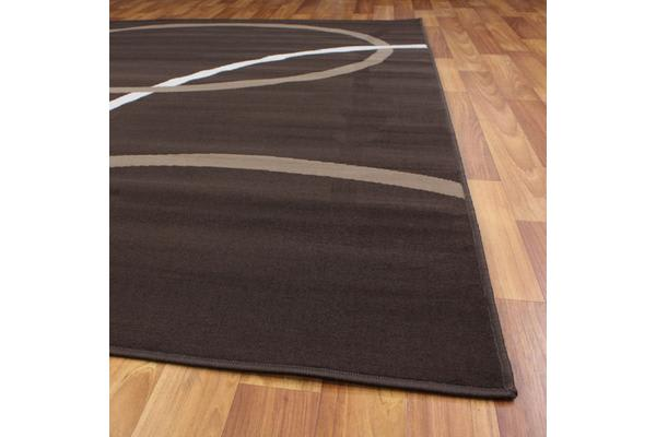 Modern Rug Brown Beige Cream 280x190cm