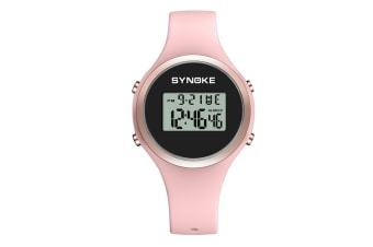 Children'S Electronic Watches Fashion Simple Silicone Watches Pink