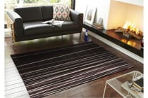 New Lines Rug Black Grey Cream Purple