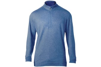 Adidas Mens Wool 1/4 Zip Top (Trace Royal)