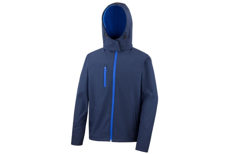 Result Core Mens Lite Hooded Softshell Jacket (Navy/Royal) (S)
