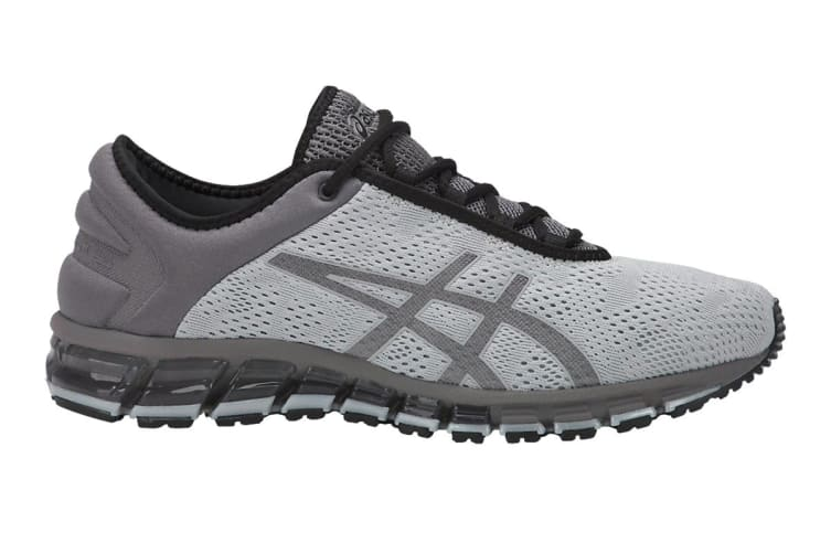 detailed look c5081 dc450 ASICS Men's Gel-Quantum 180 3 Running Shoe (Mid Grey/Black, Size 7.5)