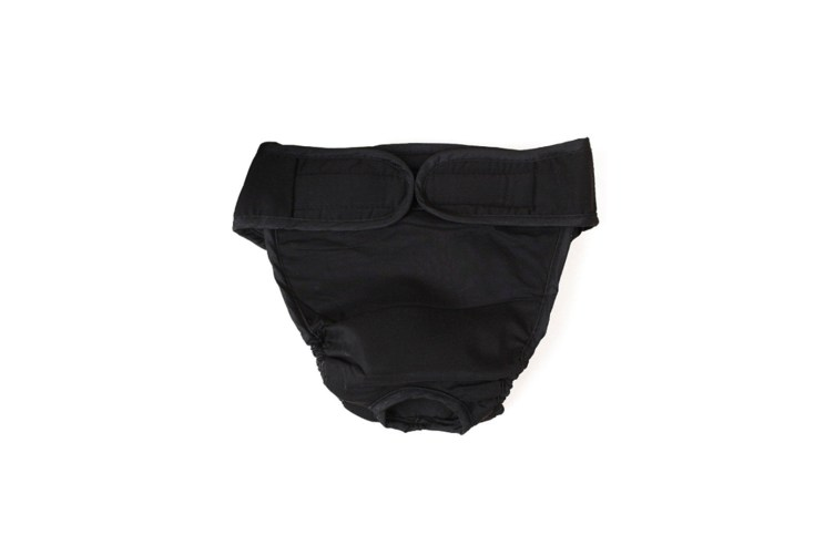 Female Dogs Cotton Blend Breathable Physiological Safety Menstrual Pants Black Xs