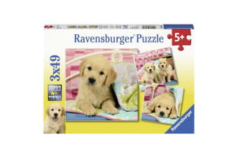 Ravensburger Cute Puppy Dogs Jigsaw Puzzle - 3 x 49 Piece