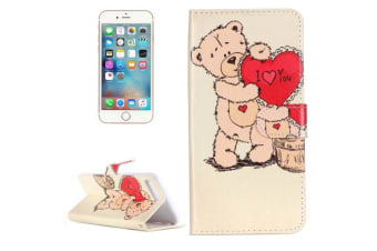 For iPhone 8 PLUS 7 PLUS Wallet Case Love Expressing Durable Protective Cover