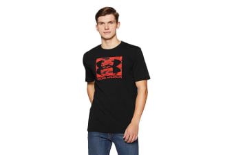 Under Armour Men's Boxed Sportsyle T-Shirt (Black/Neon Coral)