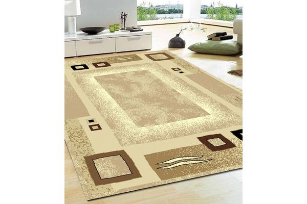 Border Pattern Beige and Brown Rug 230x160cm