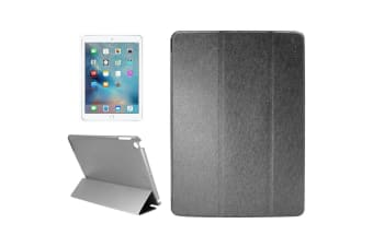 For iPad 2018 2017 Case Elegant Silk Texture Smart Durable Leather Cover Black