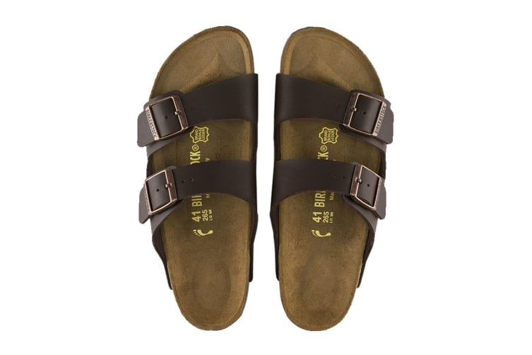 Birkenstock Arizona Birko-Flor Regular Fit Sandal (Dark Brown, Size 38 EU)