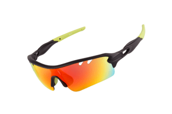 Outdoor Sports Polarizing Sunglasses Can Be Replaced By 5-Pieces Suit - 4 Green 5Pcs