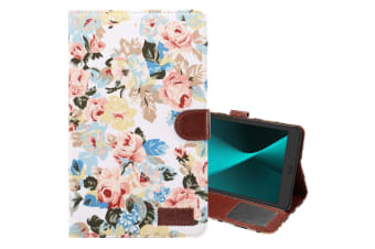 For Samsung Galaxy Tab A 8.0 SM-T380 T385 Case Flower Cloth Leather Cover