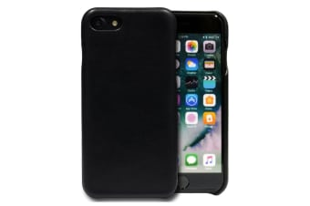 the best attitude d2976 05abb For iPhone 8 7 Case iCoverLover Slim Genuine Sheep Leather Cover Black