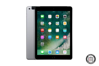 Apple iPad 2017 Refurbished (128GB, Cellular, Space Grey) - AB Grade