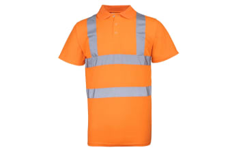 RTY High Visibility Mens High Vis Polo Shirt (Fluorescent Orange)