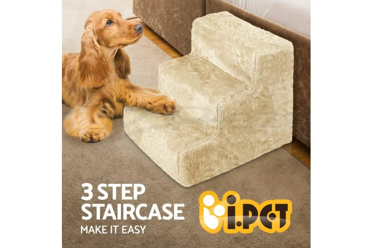 i.Pet Pet Stairs 3 Steps Dog Ramp Ramps Foldable Portable Non-slip Cat Washable
