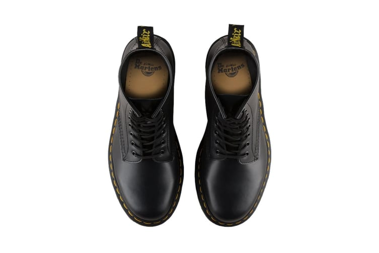 Dr. Martens 1460 Smooth Leather Hi Top Shoe (Black, Size 10 UK)