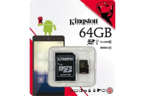 Kingston 64GB MICROSDXC CLASS 10 UHS-I 45R FLASH