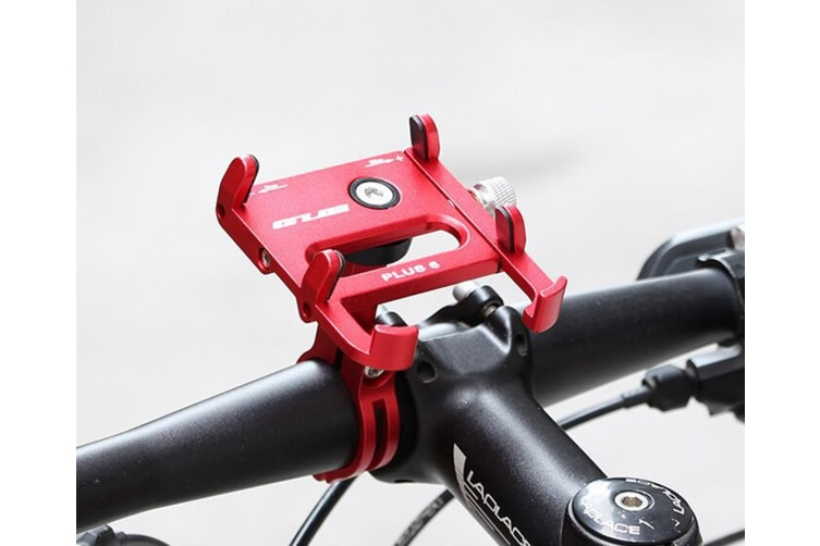 Bicycle & Motorcycle Phone Mount ,for iPhone X XR Xs 7s 8 Plus, Samsung S7/S6/Note5/4 GPS, Mount 4 to 6.5 Inch(RED)