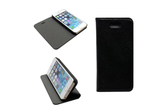 For iPhone 5C Fashion Black Genuine Leather Case High Quality Stylish Cover