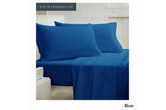 250tc Polyester Cotton Sheet Set Blue King by Gainsborough